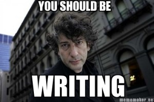 gaiman writing